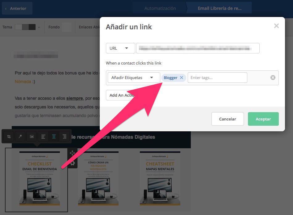 Como añadir un link librería de recursos